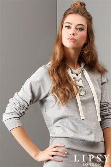 Lipsy Lace Up Hoody