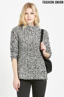 Fashion Union Textured Jumper