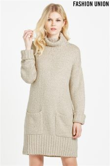 Fashion Union Textured Jumper Dress