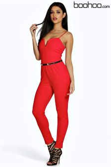 Boohoo Beleted Jumpsuit