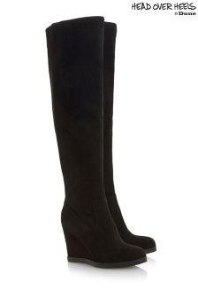 Head Over Heels Over The Knee Wedge Boots