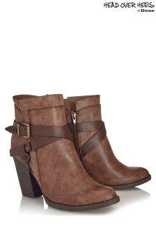 Head Over Heels Wrap Buckle Boots