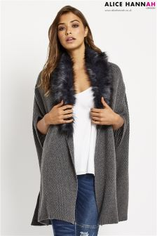 Alice Hannah Fur Collar Cape