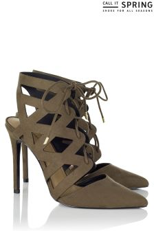 Call It Spring Cut Out Ghillie Heels