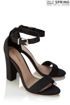 Call It Spring Strap Sandal Block Heels