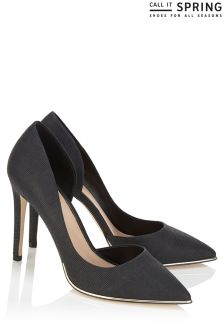 Call It Spring Metal Detail Court Shoes