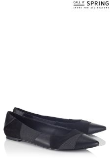 Call It Spring Patchwork Pointy Toe Ballerina