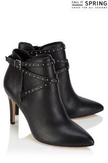 Call It Spring Strap Detail Ankle Boots