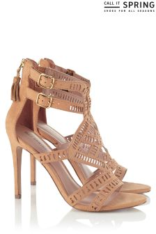 Call It Spring Chocked Up Cutout Heels