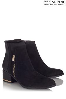Call It Spring Ladies Zipper Detail Boots