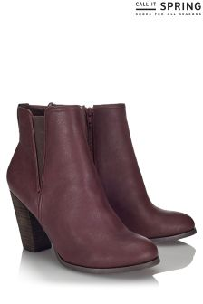 Call It Spring High Heel Ankle Boots