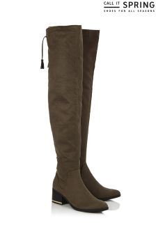 Call It Spring Over The Knee Stretch Boots