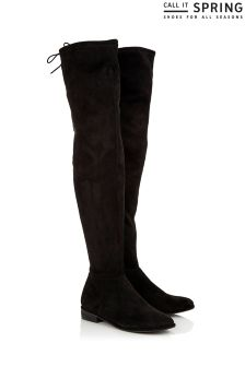 Call It Spring Stretch Over The Knee Boots