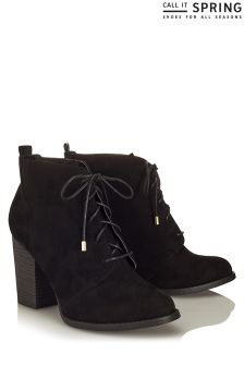 Call It Spring High Heel Laced Boots