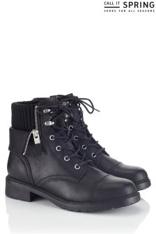 Call It Spring Flat Lace Up Boots