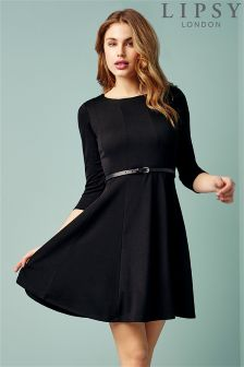 Lipsy Long Sleeve Skater Dress