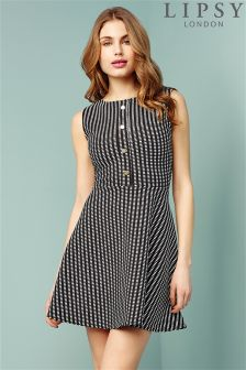 Lipsy Button Skater Dress