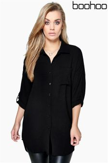 Boohoo Plus Oversized Shirt Dress