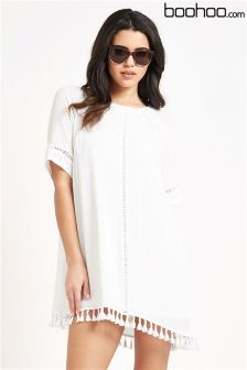 ACNBoohoo Pleated Double Layer Dress