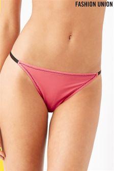 Fashion Union Hipster Bikini Bottoms