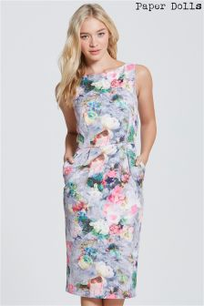 Paper Dolls Floral Print Pocket Dress