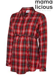 Mamalicious Maternity Woven Check Shirt