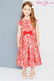 Little Misdress Floral Jacquard Dress