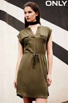 Only Tie Front Shift Dress