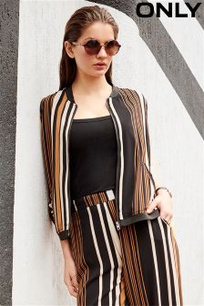 Only Luxe Stripe Co-ord Bomber Jacket