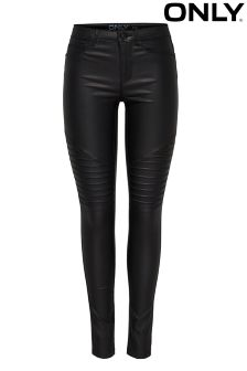 Only Skinny Biker Coated Jeans
