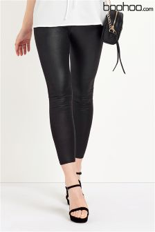 Boohoo Beth High Waist Wet Look Leggings