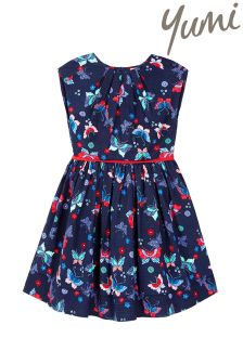 Yumi Girl Mix And Match Butterfly Print Dress