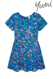 Yumi Girl Japanese Conversational Print Dress