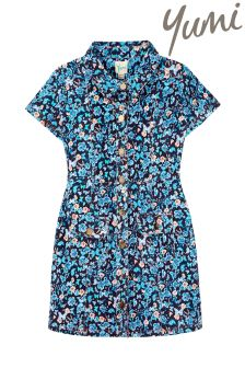 Yumi Girl Butterfly Ditsy Print Dress
