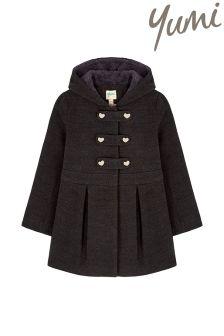 Yumi Girl Peplum Duffle Coat
