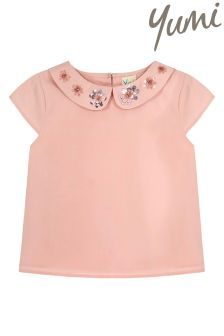 Yumi Girl Sparkle Flower Top