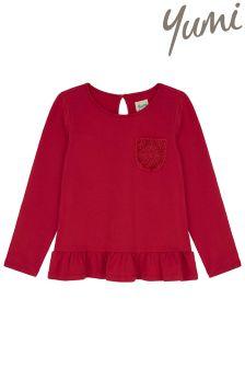 Yumi Girl Lace Pocket Jersey Top