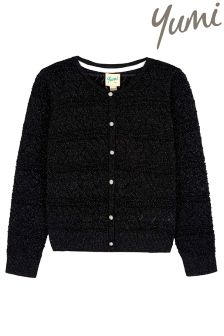 Yumi Girl Pointelle Cardigan