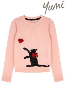 Yumi Girl Cat Jumper
