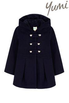 Yumi Girl Duffle Peplum Coat
