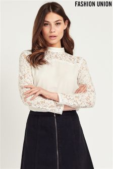 Fashion Union Ladies Lace Top