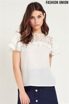 Fashion Union Ladies Short Sleeve Top