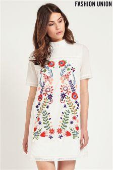 Fashion Union Embroidered Dress
