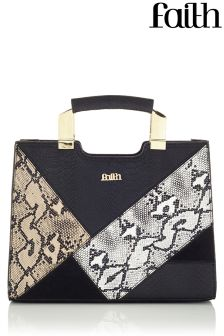 Faith Snake Metal Handle Tote Bag