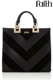 Faith Mixed Croc Tote Bag