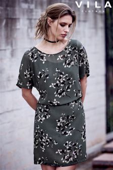 Vila Floral Print Tunic Dress