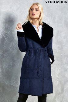 Vero Moda Trench Shearling Jacket