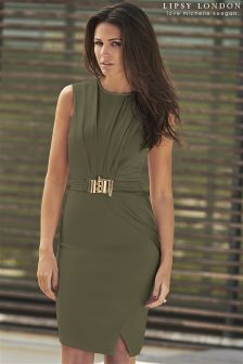 Lipsy Love Michelle Keegan Chain Trim Wrap Dress