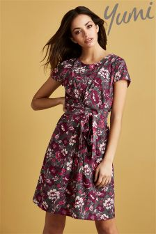 Yumi Floral Printed Mini Dress