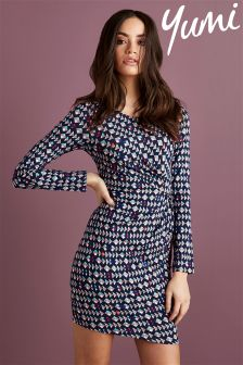 Yumi Mini Pop Chop Printed Jersey Dress